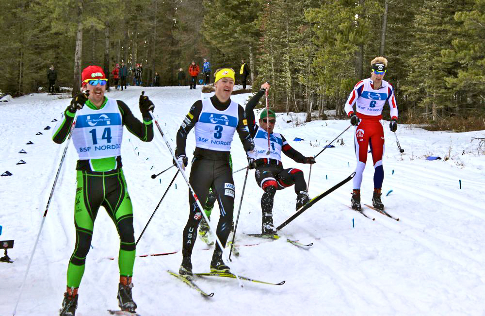 Second through sixth came into the finish in a pack with little separation.  I got in a small tangle with Dakota Blackhorse von-Jess early in the heat and never worked my way back to the front.  I finished sixth in the heat, for a sixth place overall finish. (Fasterskier.com photo)