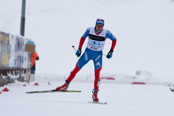 The Russian boys were skiing big and skied away from the field in the relay.