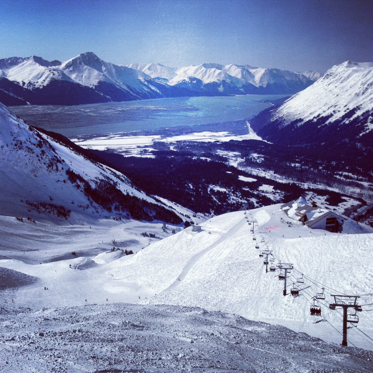I alpine skied a day at Alyeska with my parents.  It was awesome out there!