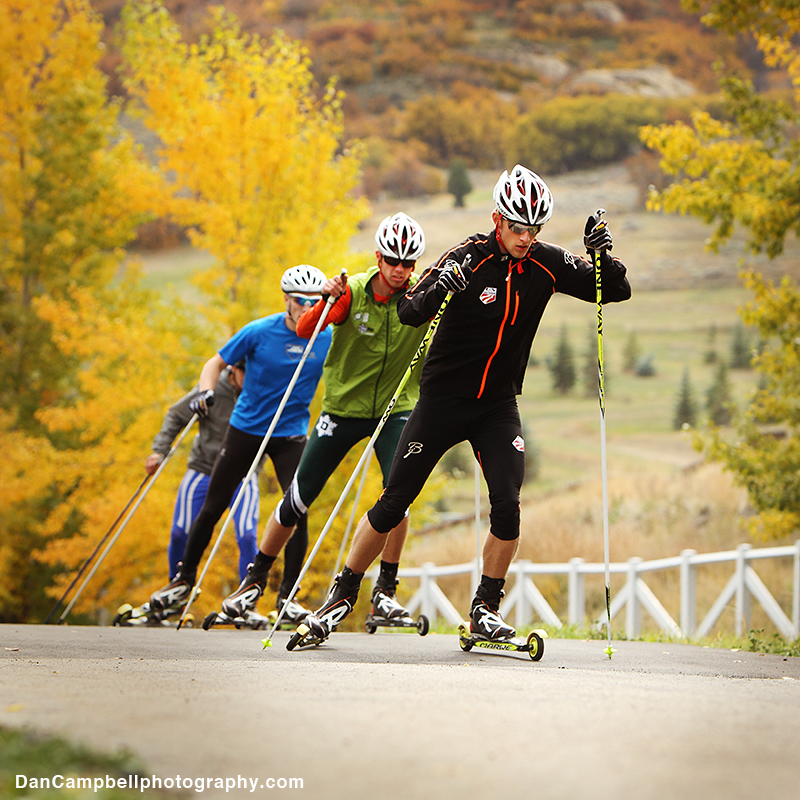Skate day at the Soldier Hollow rollerski track.