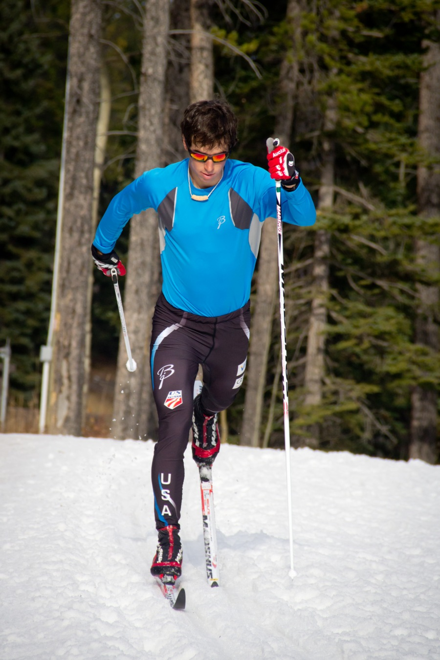Noah Hoffman striding it out in Canmore.