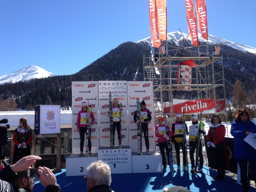 Women's podium with Holly in 4th