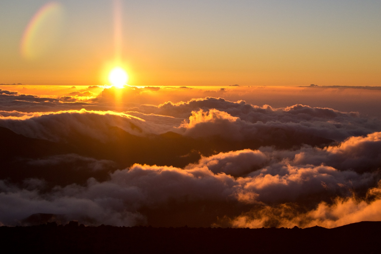 Sunrise viewed from the summit of Haleakala