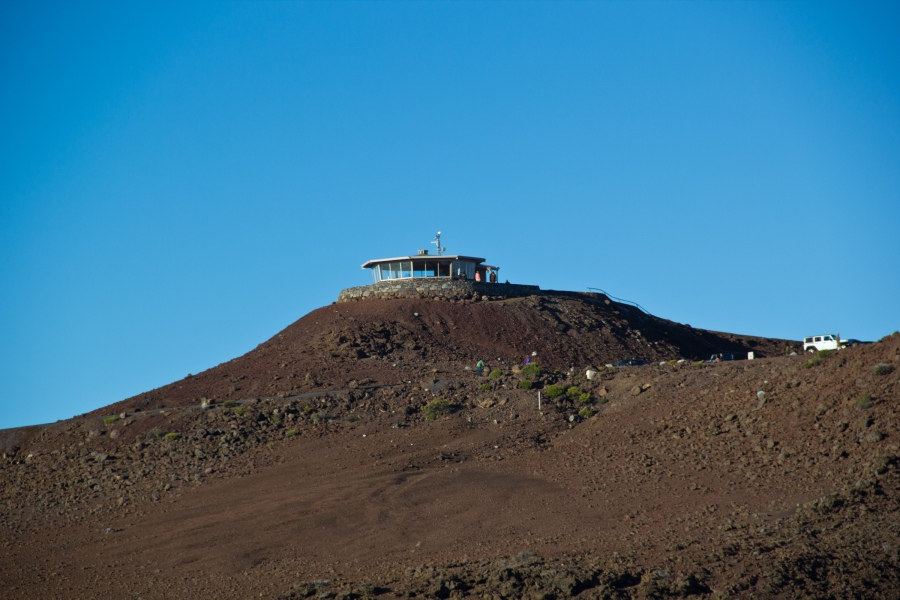 The summit of Halekala - accessible by car - has an observation platform at the top.