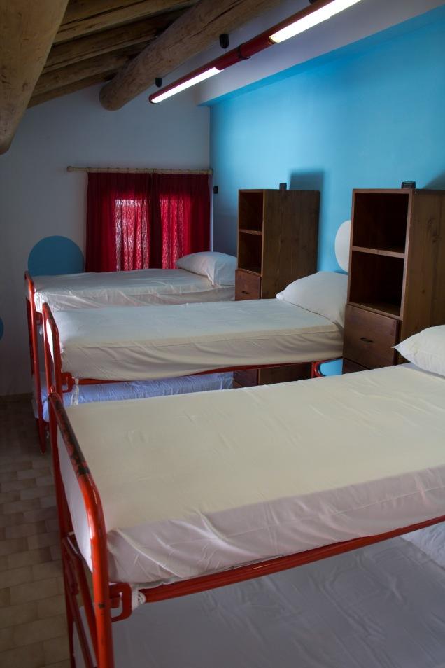 Hostel room...